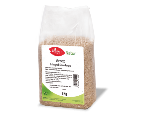 Arroz Integral Semilargo de El Granero Integral 1 kg.