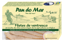 Filetes de Ventresca en Aceite Virgen Extra Ecológico de Pan Do Mar 120 gr