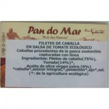 Filetes de Caballa con Tomate Ecológico de Pan Do Mar 120 gr