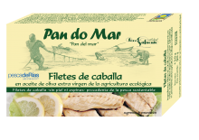 Filetes Caballa Aceite Virgen Extra Ecológico de Pan Do Mar 120 gr